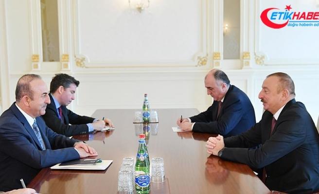 Çavuşoğlu Azerbaycan Cumhurbaşkanı Aliyev ile görüştü