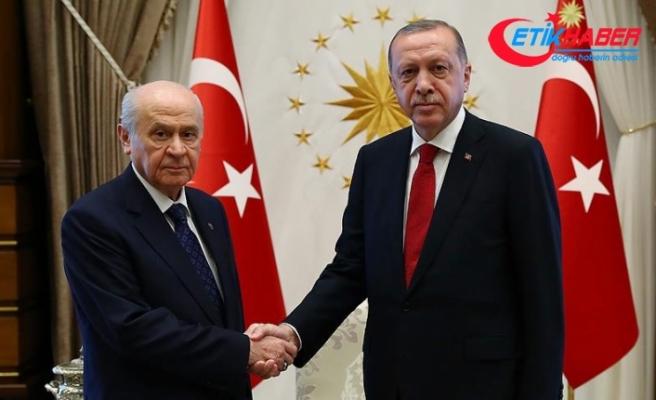 Cumhurbaşkanı Erdoğan ile MHP Lideri Bahçeli bir araya geldi