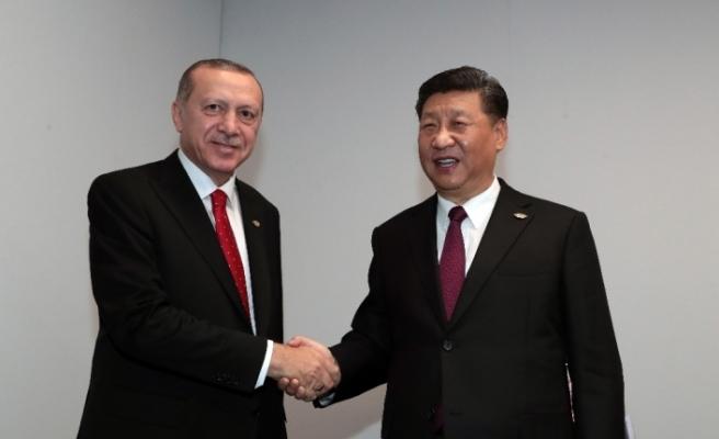 Cumhurbaşkanı Recep Tayyip Erdoğan, Çin Devlet Başkanı Xi Jinping ile görüştü