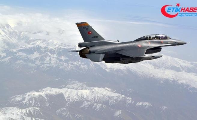 F-16'lar o mağarayı vurdu