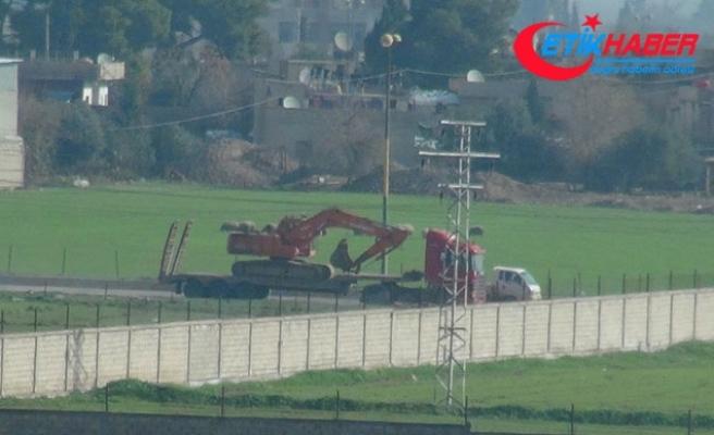 Kamışlı'daki teröristlere gönderilen iş makineleri ve tanker görüntülendi