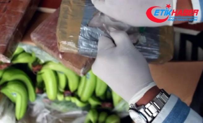 Muz yüklü konteynerden 16 milyon lira değerinde kokain çıktı