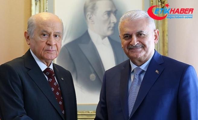TBMM Başkanı Binali Yıldırım ile MHP Genel Başkanı Devlet Bahçeli görüştü