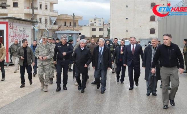Vali Doğan Afrin'de incelemelerde bulundu