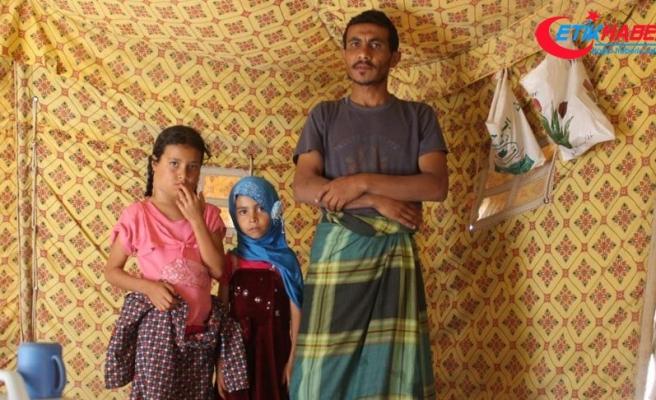 Yemenli baba kansere yakalanan kızını tedavi ettirememenin çaresizliğini yaşıyor