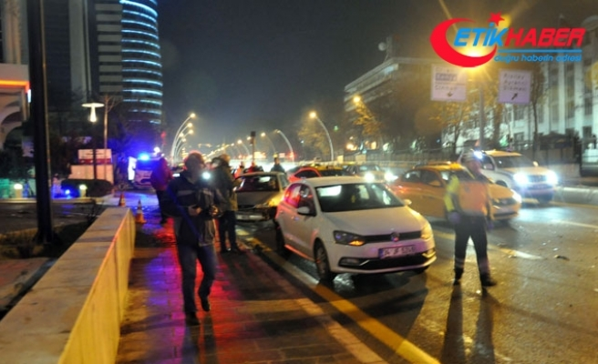 Ankara'da 6 araçlı zincirleme kaza: 1 yaralı