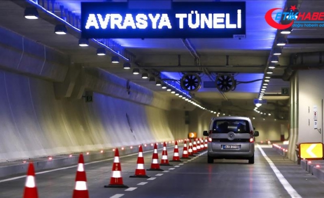 Avrasya Tüneli'nden otomobil geçiş ücreti 32,20 TL oldu