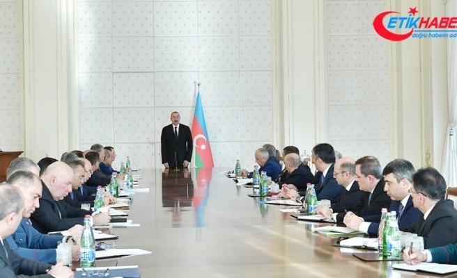 Azerbaycan Cumhurbaşkanı Aliyev: 2018 Azerbaycan için başarılı bir yıl oldu