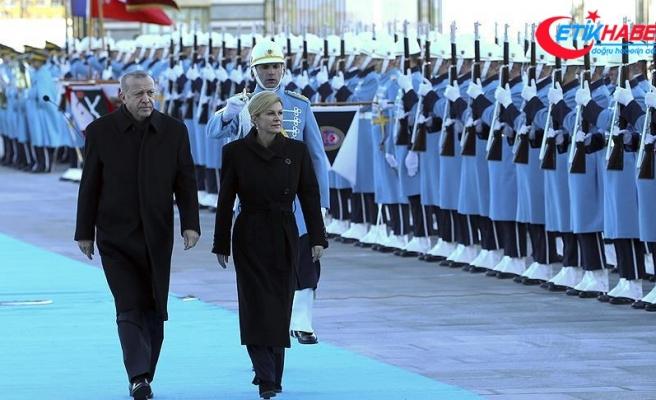 Cumhurbaşkanı Erdoğan Kitaroviç'i resmi törenle karşıladı