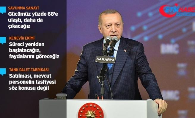 Cumhurbaşkanı Erdoğan: Savunma sanayindeki gücümüz yüzde 68'e ulaştı