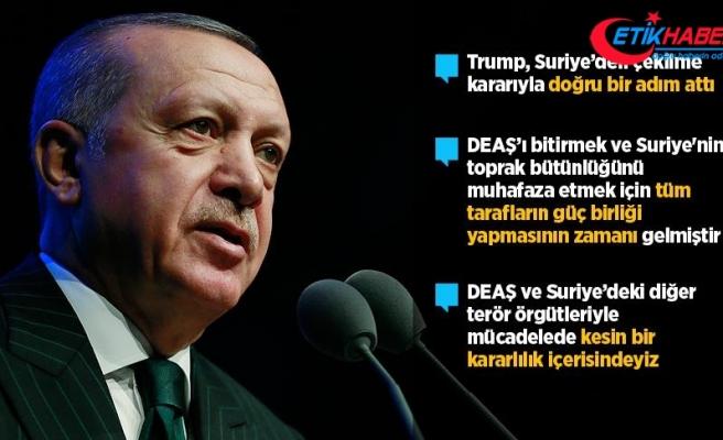Cumhurbaşkanı Erdoğan: Trump Suriye'den çekilme kararı alarak doğru bir adım attı