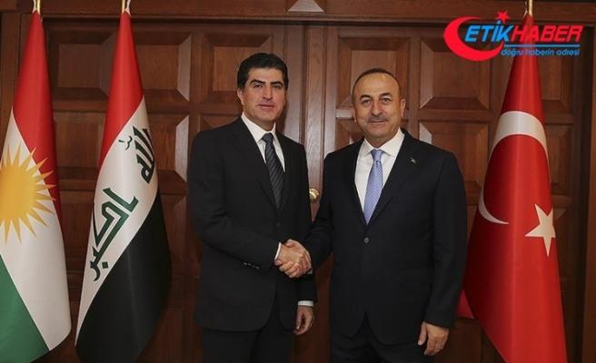 Dışişleri Bakanı Çavuşoğlu Neçirvan Barzani ile görüştü