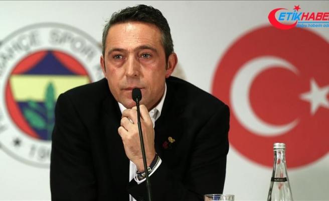 Fenerbahçe Kulübü Başkanı Ali Koç: Buradayız, hiçbir yere gitmiyoruz