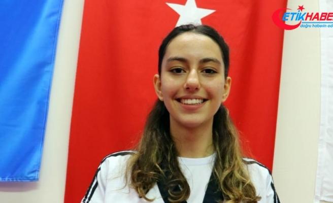 Genç tekvandocu 5. Türkiye şampiyonluğunun sevincini yaşıyor