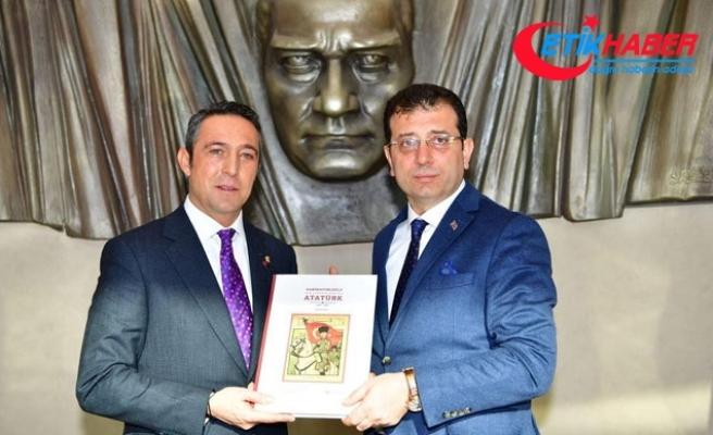 İmamoğlu Fenerbahçe Spor Kulübü Başkanı Ali Koç'u ziyaret etti