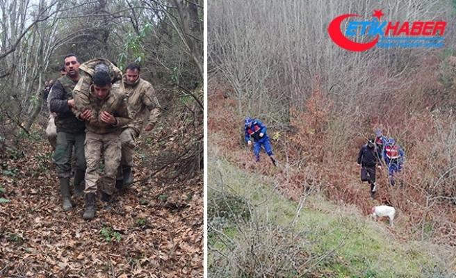 Jandarma 20 saat aradı... Ormanda baygın bulundu