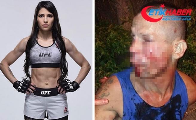 Kadın dövüşçü, kendisini gasp etmek isteyen adamı tanınmaz hale getirdi