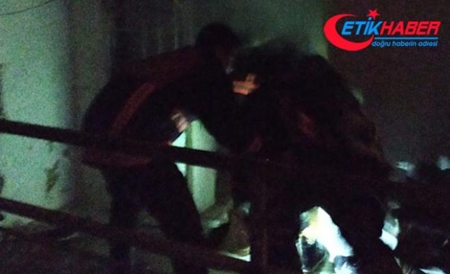 Malatya'da misafirlikte olan ailenin evi yandı