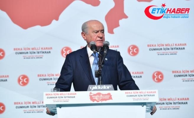 MHP Lideri Bahçeli: Biz Milliyetçi-Ülkücü Hareketiz, biz Türklüğün ve Türkiye'nin beka davasıyız