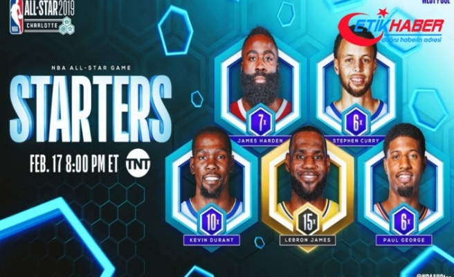 NBA All-Star'da ilk 5'ler ve kaptanlar belli oldu