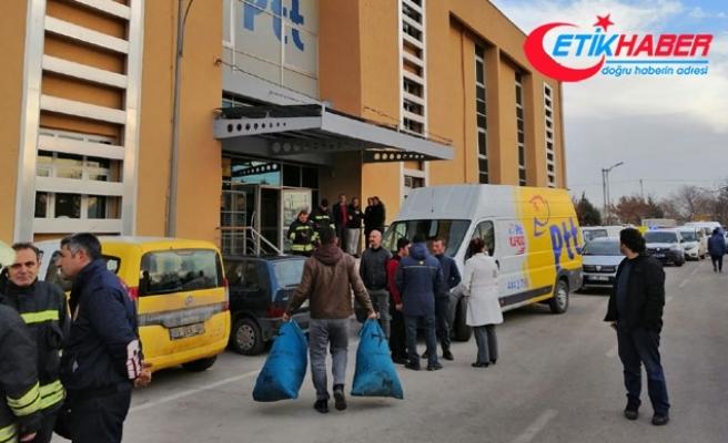 PTT'nin kargo bölümünde patlama: 2 yaralı