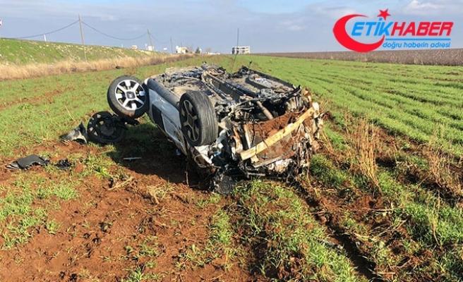 Şanlıurfa'da tarlaya uçan otomobilin sürücüsü yaralandı