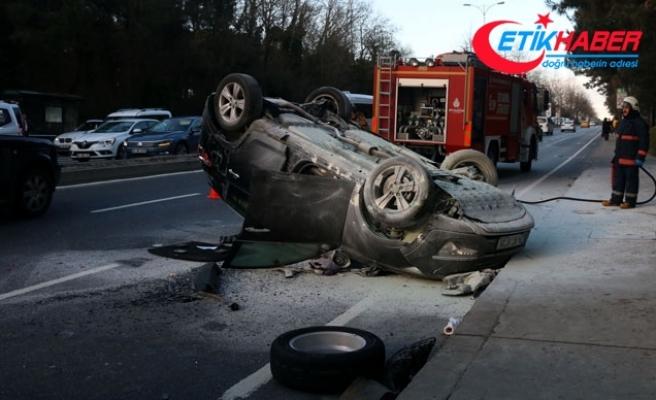 Sarıyer'de cip ambulansa çarptı: 2 yaralı