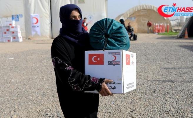 Türk Kızılayı'ndan Musullu sığınmacılara kışlık yardım