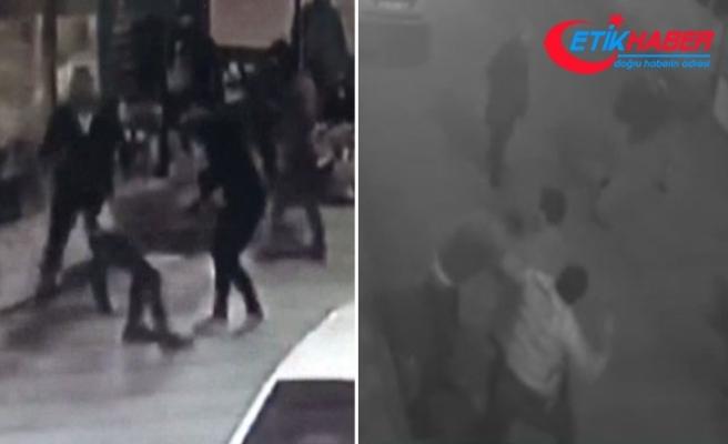 3 kişinin yaralandığı kavga anı güvenlik kamerasında