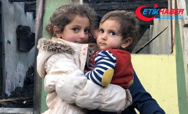 4 yaşındaki Ceren, kardeşini yanmaktan kurtardı