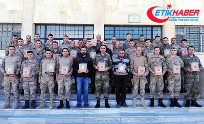 Afrin'deki Mehmetçik'ten 'Özel öğrenciler'e teşekkür