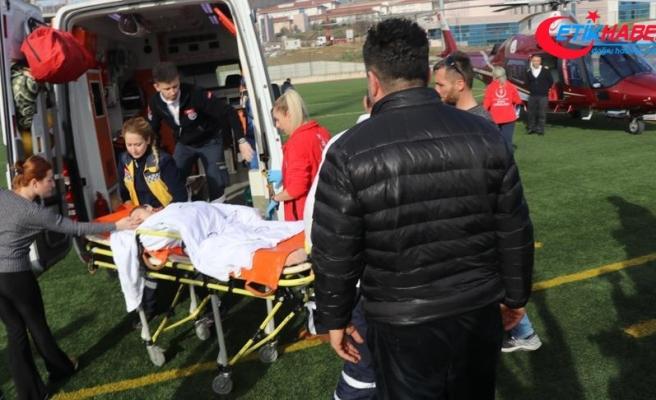 Ambulans uçak 8 yaşındaki Egemen için havalandı