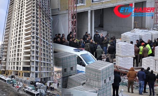 Ankara'da 17'nci kattan düşen inşaat işçisi öldü