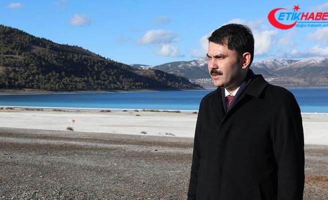 Bakan Kurum: Salda Gölü'nün imara açılacağı iddiası doğru değil