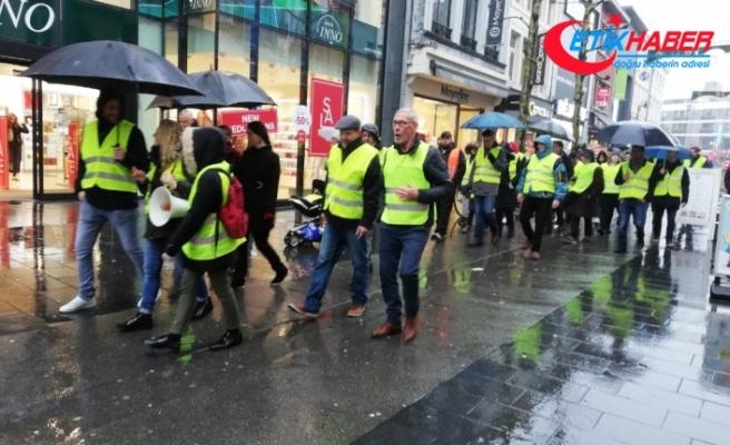 Belçika'da 38 sarı yelekliye gözaltı