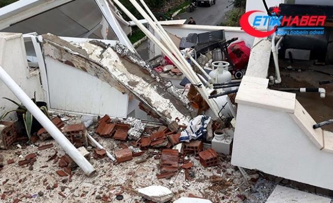 Bodrum'da sitedeki evin terasında patlama