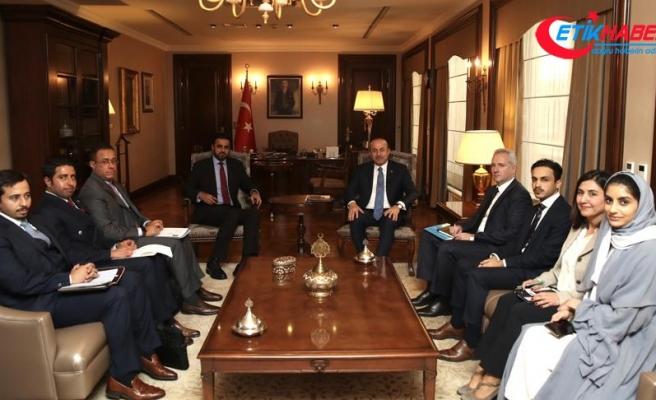 Çavuşoğlu Katar Kalkınma Fonu Direktörü el-Kevari'yi kabul etti