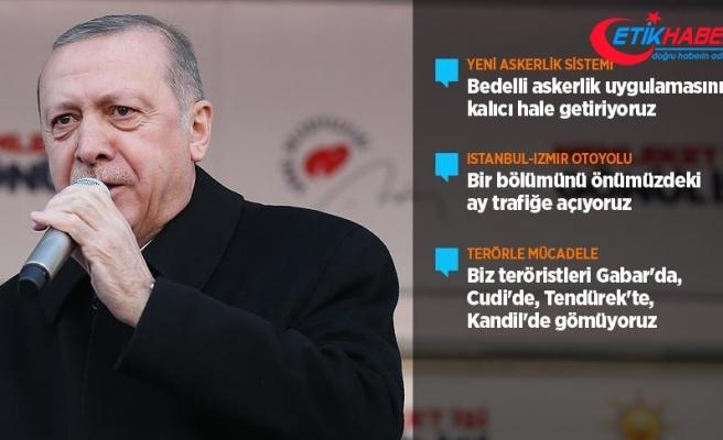 Cumhurbaşkanı Erdoğan: Bedelli askerlik uygulamasını kalıcı hale getiriyoruz
