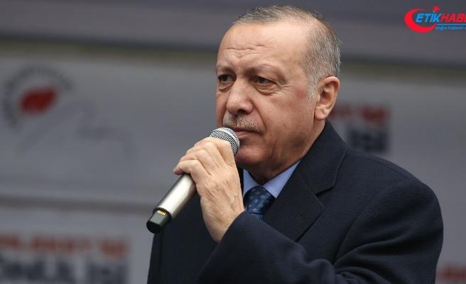 Cumhurbaşkanı Erdoğan: CHP İstiklal Marşımızı söylemeyenlerle ittifak halinde