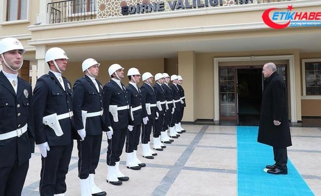 Cumhurbaşkanı Erdoğan, Edirne Valiliği'ni ziyaret etti