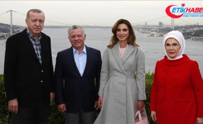 Cumhurbaşkanı Erdoğan, Ürdün Kralı 2. Abdullah ile bir araya geldi