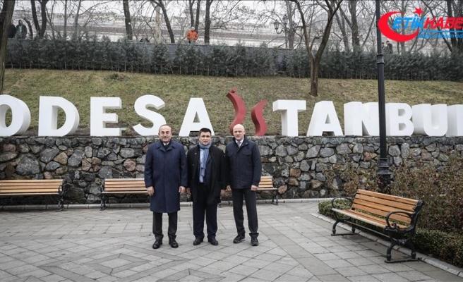 Dışişleri Bakanı Çavuşoğlu, Odessa'da 'İstanbul Parkı'nı ziyaret etti