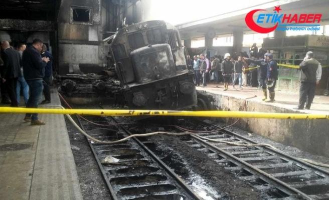 Kahire'de tren istasyonunda yangın: 25 ölü, 40 yaralı