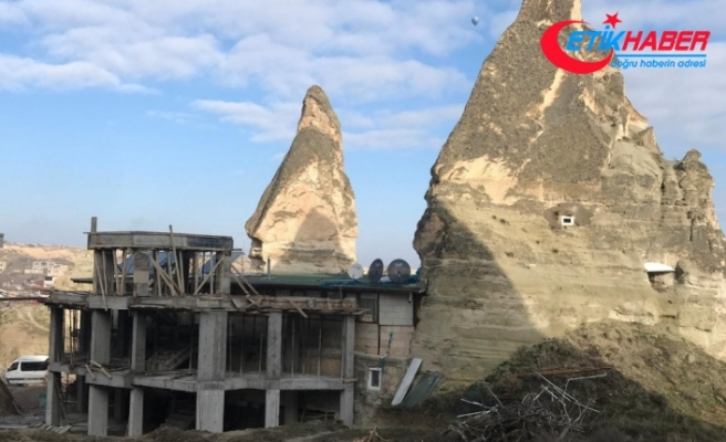 Kapadokya'da 15 kaçak yapı yıkılacak