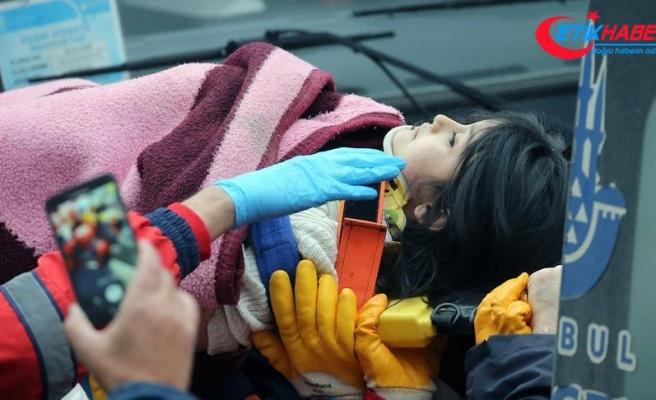 Kartal'da 5 yaşındaki Havva Tekgöz kurtarıldı