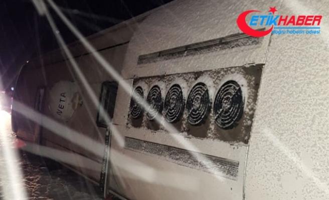 Kayseri'de yolcu otobüsü devrildi: 24 yaralı