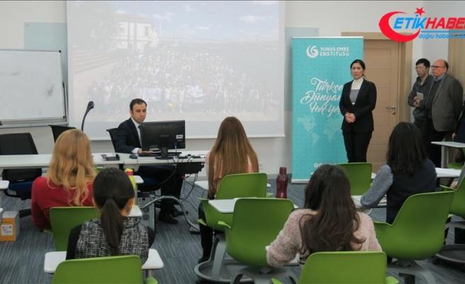 Kazakistan'da Türkçe Konuşma Kulübü'nün ilk dersi yapıldı