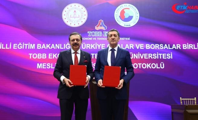 MEB ve TOBB arasında 'Mesleki İş Birliği Protokolü' imzalandı