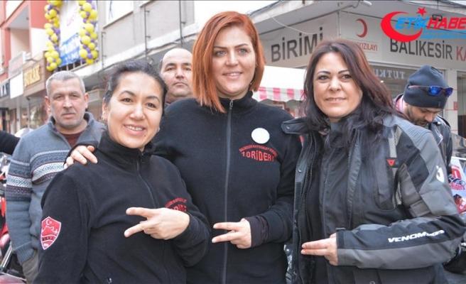 Minik Öykü'ye Balıkesirli motosikletçilerden destek