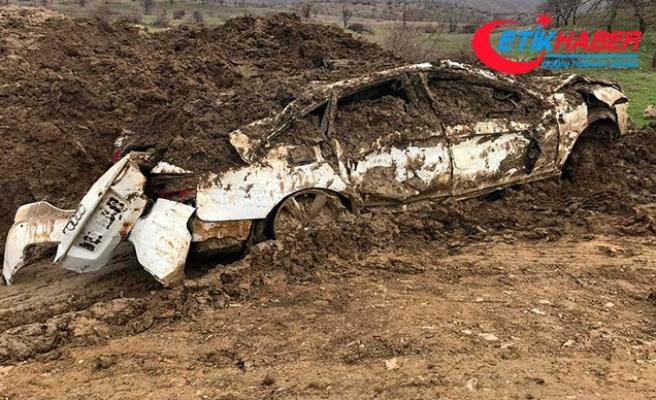 PKK'lı teröristlerin çaldığı lüks otomobil, toprağa gömülü bulundu